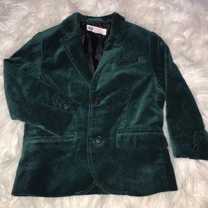H&M Toddlers Velvet Tuxedo Blazer 3/4